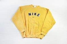 Vintage Nike Yellow Sweater/Jumper