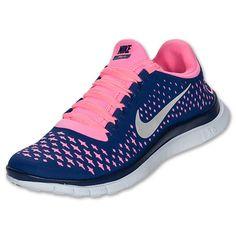 Women's Nike Free 3.0 V4| FinishLine.com | DP RYL BL/ RFLCT SLVR - PLRZD PNK