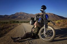 Motorcyclist Rosie Gabrielle rides around the world -- sharing empathy and keeping her eyes open.