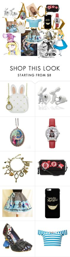 """""""Alice if she was 21 years old"""" by taffybandit ❤ liked on Polyvore featuring Loungefly, Q&Q, Lenny, Disney, Vera Bradley, Irregular Choice, Miss Selfridge and disney"""