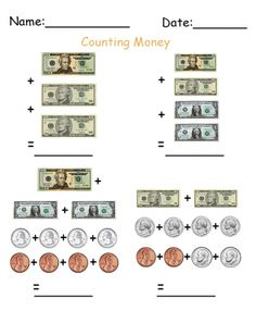 Worksheet Counting Money Printable Worksheets money worksheets and printables on pinterest more counting printable repin share the gift of learning