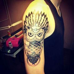 #owl #tattoo #mariotattoo