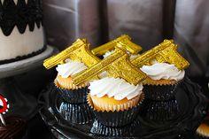 Cupcakes at a James Bond Party #jamesbond #partycupcakes