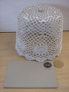 This crochet lampshade from Sass & belle in grey goes really well with Farrow & Ball's Worsted