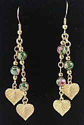 IDEA: Cloisonne Leaf Earrings (eebeads.com)