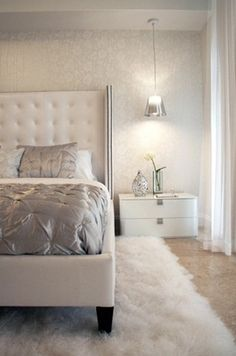 love the rug under the bed.. it's all about textures and layers! {Designer Profile... - Bloglovin | The best bedroom design ideas for your home! #bedroom #homedesign #interiors See more inspiring images on our board at http://www.pinterest.com/homedsgnideas/bedroom-design-ideas/
