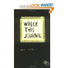 """Wreck this Journal by Keri Smith. A fun """"guided"""" journal packed with lots of creativity prompts. Wreck This Journal, Daily Journal, Book Journal, Education English, Teaching English, Teaching Tools, Teaching Resources, Teaching Ideas, Bujo"""