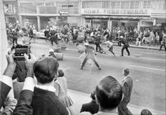 Police and Vietnam war protestors clash in the streets - Oakland, CA - October 20, 1967