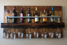 Industrial Wine Rack  Gift for Her  Rustic Wine Rack  Wall