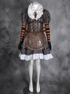 Picture of Best Alice: Madness Returns Alice Steamdress Cosplay Costumes From China Y-0476