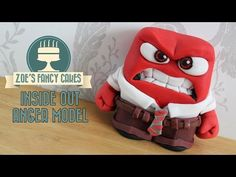 Disney's Inside out Anger fondant / polymer clay tutorial