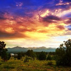 Beautiful sunset over the Rocky Mountains near Pagosa Springs Colorado. See more on www.sweetdivergence.com