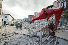 Terremoto, le macerie dopo il sisma che ha colpito il Centro Italia