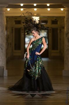 RESERVED  The Peacock Gown  Sequin One by RooneyMaeCouture on Etsy