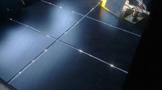 Have you ever wanted to add some serious sparkle to your boring bathroom floor? Well, now you can. An Instructables member named Baldr turned their restroo