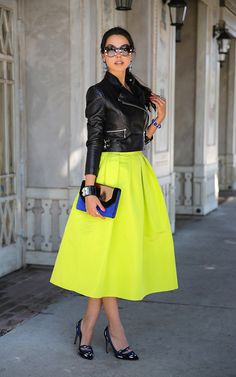 The Marant Philes- love the neon statement skirt!