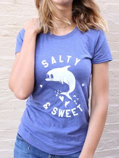 Excited to share the latest addition to my #etsy shop: Dolphin, Dolphin shirt, Salt life, Salty & Sweet, Ocean Animal, Ocean, Sea Animal, Womens Graphic Tees http://etsy.me/2D9gDSl #clothing #women #tshirt #dolphin #animal #womensgraphictee #sea