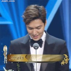 Lee Min Ho's acceptance speech, 52nd Daejong film awards, 20151120.