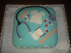 Tarta de crema de chocolate con leche, para el cumpleaños de una enfermera de la Fe!!