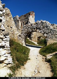 Ruined interior of a mysterious Castle of Cachtice situated in the mountains above the Cachtice village in the western Slovakia, in Trencin region. The Castle of Cachtice was residence of the world famous Elizabeth Batory and it is definitely worth a visit.