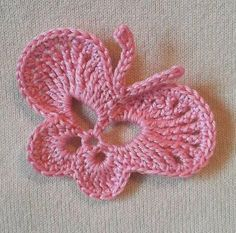 Crochet Butterfly, free pattern