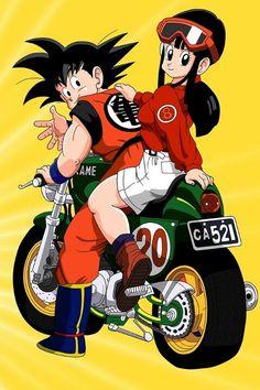 Goku & Chichi from Dragon Ball Z anime