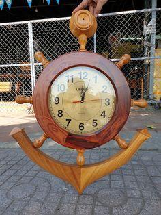 Big Clocks, Wood Clocks, Table Lamp Wood, Coconut Shell, Model Ships, Wood Turning, Rustic Wood, Decoration, Crafts