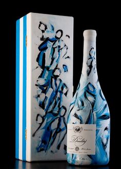Sauvignon Duality 2011. Handpainted bottle by the artist Silvano Spessot.