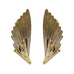 Lacrom Store    Claudia Baldazzi, Accessories, Ermes Ear Cuff  Small wings in golden (24kt) brass, silver back-welded pins and ear hooks.