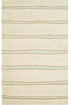 Martha Stewart RugsTM Chalk Stripe Rectangular Rugs – Buckwheat Flour $79.99 thestylecure.com