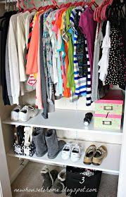 An Organized Closet for a Teen Girl