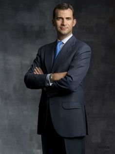 In this handout photo from the Spanish Royal Household, Prince Felipe of Spain poses for an official portrait session at Zarzuela Palace on May 5, 2010 in Madrid, Spain.