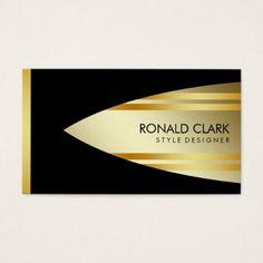 Retro Gold Black Metal Financial  Professional Business Card - professional gifts custom personal diy