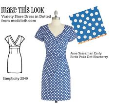 (via Make This Look: Variety Store Dress in Dotted - The Sew Weekly Sewing Blog & Vintage Fashion Community)