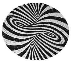 Tampo de mesa Bistrô no tamanho de 70cm de diâmetro feita em mosaico. Base MDF 18mm
