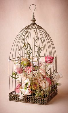 BHLDN  Birdcage Holder but with Gerber Daisies