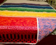 Chakra Colors, Hand Sewing, Quilting, Colours, Blanket, Crochet, Handmade, Sewing By Hand, Crochet Hooks