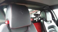 #ReplayXD #PrimeX fitted in a #Ferrari #F430 www.headrestmount.co.uk #TrackDay #InCarCameraMount