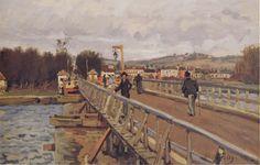 Sisley Footbridge At Argenteuil (Alfred Sisley)