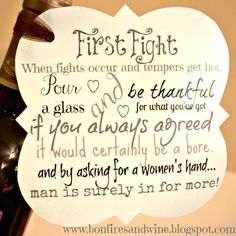 first fight box bottle of wine | DIY Wedding Gift Basket Ideas