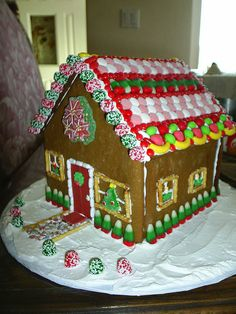 gingerbread house by sewmuchfun0, via Flickr