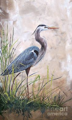 In The Reeds-blue Heron-a Print by Jean Plout.  All prints are professionally printed, packaged, and shipped within 3 - 4 business days. Choose from multiple sizes and hundreds of frame and mat options.