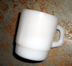Vintage Termocrisa Mug White Stacking Coffee Cup by TheBackShak