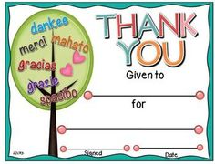 Here is a great way to acknowledge our helpers and volunteers who give tirelessly in our classrooms and schools daily.