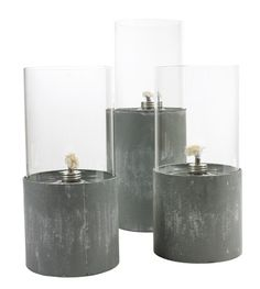 need to try these w conrete, glass vases