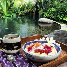 Stone House: A Beautiful in Eluxe Magazine Luxury Holidays, Bali Travel, Naturally Beautiful, Bali Trip, Healthy Eating, Boutique, Stone, Breakfast, Recipes