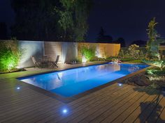 Swimming Pool Lights Are Vital for Limitless Swimming Day and Night time - Crithome Swimming Pool Lights, Swimming Pool Landscaping, Luxury Swimming Pools, Luxury Pools, Swimming Pools Backyard, Swimming Pool Designs, Outdoor Life, Outdoor Pool, Pool House Piscine