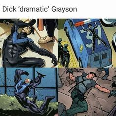Read Dick 'dramatic' Grayson from the story Memes de DC Comics by s-spidey (🇸) with 703 reads. Nightwing, Batgirl, Im Batman, Batman Robin, Gotham Batman, Batman Art, Spiderman, Tim Drake, Richard Grayson