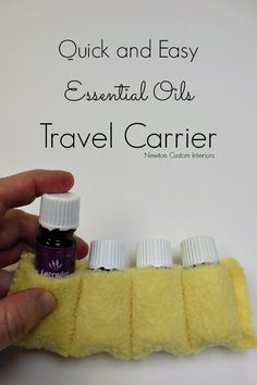 Essential Oils Travel Carrier from NewtonCustomInteriors.com