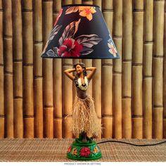 Hula Girl Iolani Hawaiian Lamp   Tiki Lamps   RetroPlanet.com